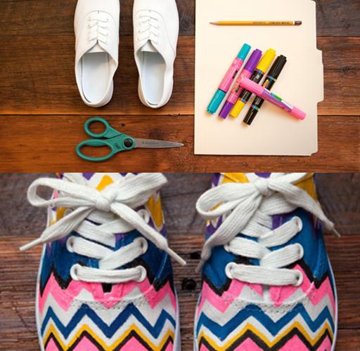 01-diy-neon-chevron-shoe-makeover